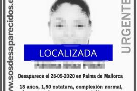 Localizan a la joven desaparecida en Palma
