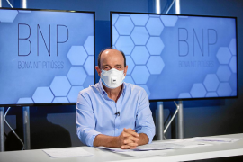 Carlos Rodríguez, ayer en el plató del programa Bona Nit Pitiüses de la Televisió d'Eivissa i Formentera