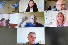 Imagen de la reunión telemática entre Consell y ayuntamientos