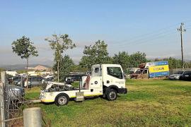 El depósito municipal de Son Toells acoge aún cerca de 230 vehículos
