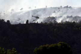 Extinguido el incendio de Bendinat con 69 hectáreas quemadas