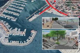 Alcúdia estrenará en marzo una nueva fachada marítima con más espacio peatonal