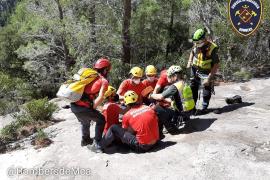 El escalador herido en el Castell d'Alaró, en estado muy grave