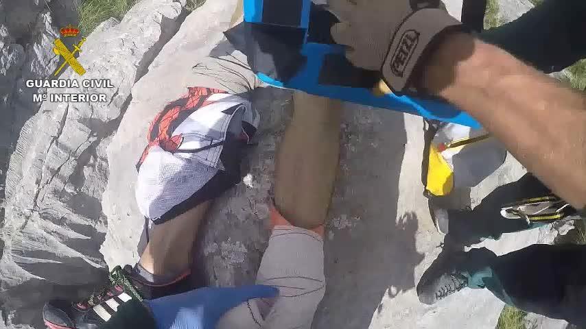 Laborioso rescate de un senderista herido en el Torrent de Pareis
