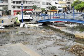 Resaca tras la tormenta en Calvià y el Port d'Andratx