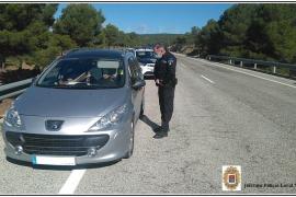 Interceptan en Yecla a un conductor de Palma que circulaba desorientado