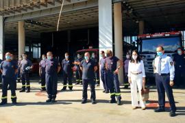 Emotivo homenaje a la bombera Magdalena Rigo