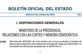 El BOE publica el decreto del estado de alarma en Madrid