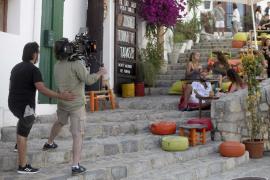 Un momento del rodaje del anuncio de la campaña de promoción turística 'La vida islados'