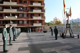 La Guardia Civil conmemora en Palma su patrona en una celebración discreta