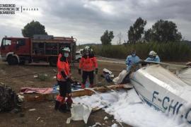 Un muerto y un herido al estrellarse una avioneta en Málaga