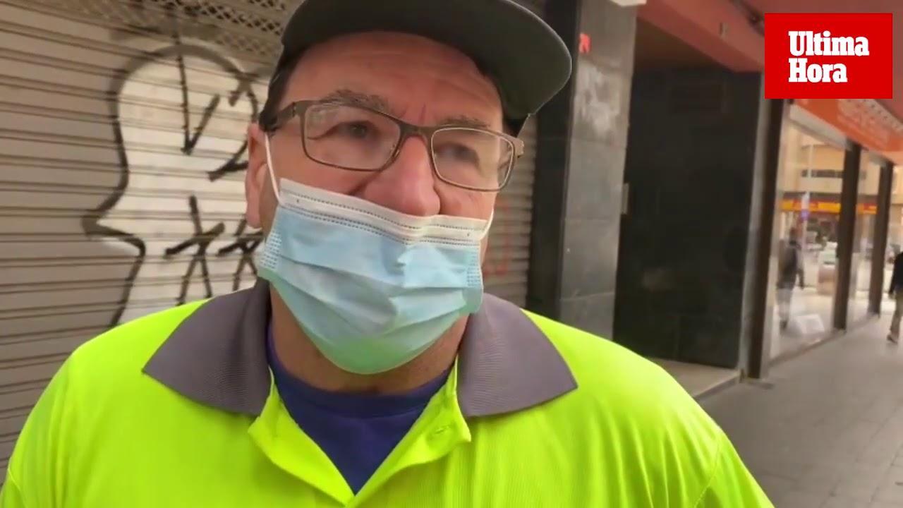 Trabajar en la calle pese a estar incapacitado