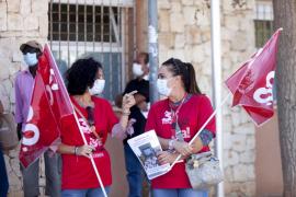 La protesta del CSIF en es Viver, en imágenes. (Fotos: Daniel Espinosa)
