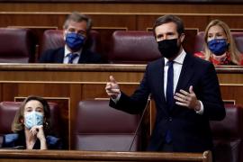 Casado se desmarca de la Gürtel y cree que Sánchez ganó el poder con una mentira