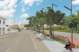 Recreación del resultado de la remodelación de la avenida de Santa Eulària