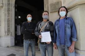El Gremi de Margers protesta en Palma por las obras de la carretera de Andratx