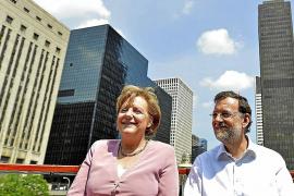 Rajoy y Merkel abordan los escenarios del posible rescate a España
