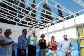 El Govern instala las nueve cubiertas del colegio nuevo