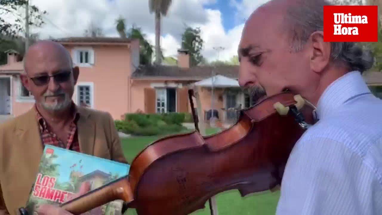 Un violín que recuerda a John Lennon