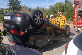 Aparatoso accidente en la calle Aragón