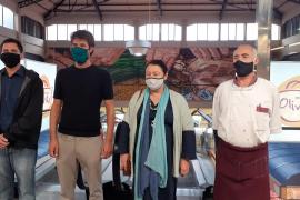 El Mercado del Olivar estrena un mural de Joan Aguiló dedicado al mundo rural
