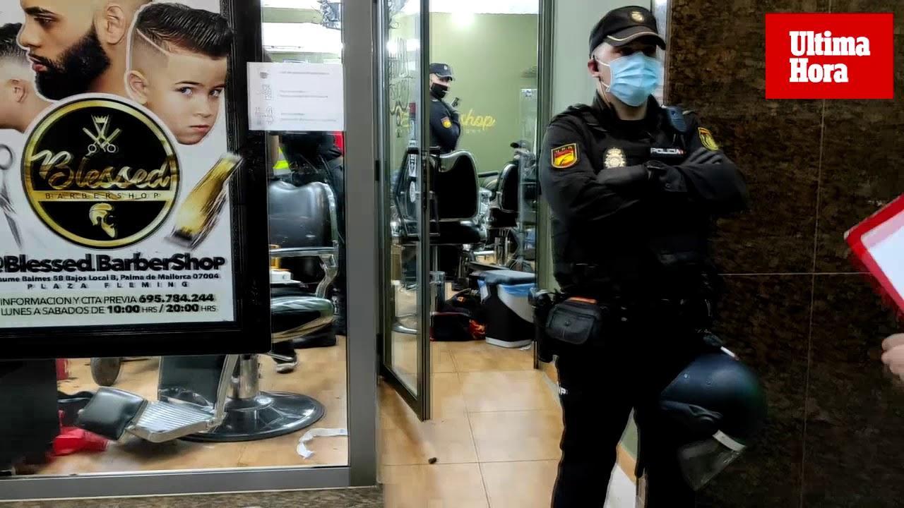 Operación antidroga en varias barberías de Palma