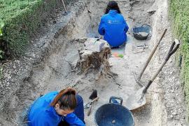 La excavación en la zona ajardinada del cementerio de Porreres descarta una fosa común