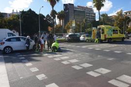 Atropellada en Palma la conductora de un patinete eléctrico