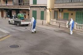 Felanitx vuelve a desinfectar calles y plazas en plena segunda oleada