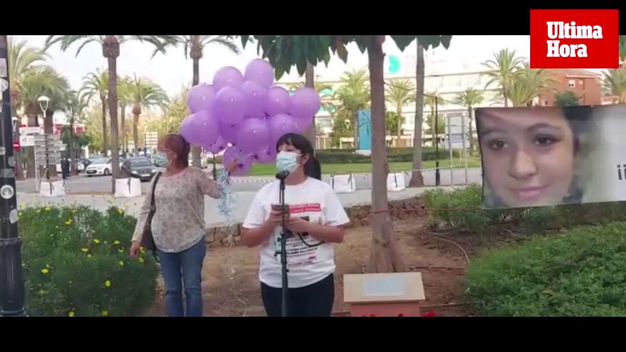 Concentración en recuerdo a Malén Ortiz en su 22 cumpleaños