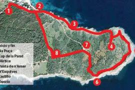 El Castell de la Punta de n'Amer: de Cala Nau a N'Esquives