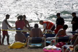 Un hombre muere ahogado en la Platja de Palma