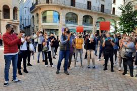 Protesta de bares y restaurantes en Manacor por las restricciones