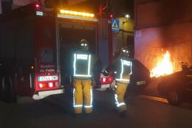 Incendio de un contenedor en Palma