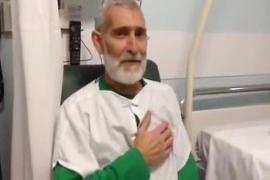 Bolinaga inicia un nuevo tratamiento en la sección de Oncología del hospital