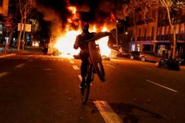 Imagen de los disturbios de Barcelona