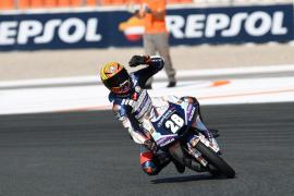 Izan Guevara, campeón del mundo júnior de Moto3
