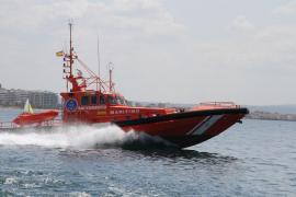 Salvamento Marítimo rescata a un joven accidentado en Es Toro