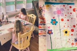 Pinta paños de cocina para pagar el tratamiento contra el cáncer de su padre