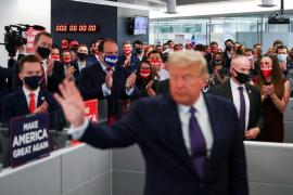 Trump: «Están intentando robar las elecciones, no les dejaremos hacerlo»