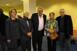Homenaje a Pere A. Serra por parte del Joventut Mariana