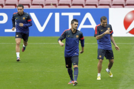 El Barça, preparado para recibir al Spartak bajo la lluvia