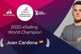 El regatista Joan Cardona, campeón mundial de eSailing