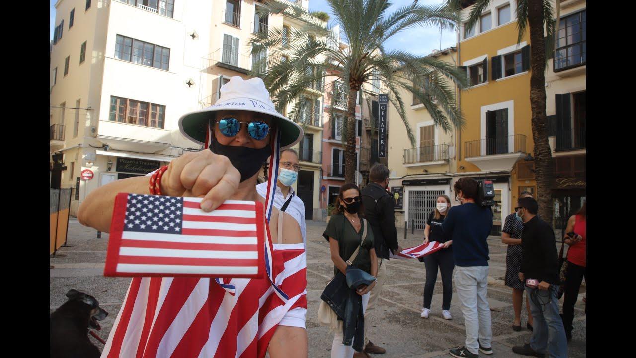 Ciudadanos de EEUU celebran en Palma el triunfo de Biden: «Es el fin de una pesadilla»
