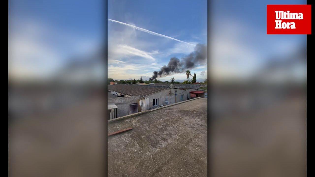 Alarma por una columna de humo en la urbanización de Son Prunes