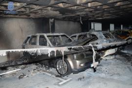 Incendio provocado en el parking del aeropuerto de Palma