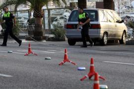 Una joven muere arrollada en el Passeig Marítim de Palma por un coche que se dio a la fuga