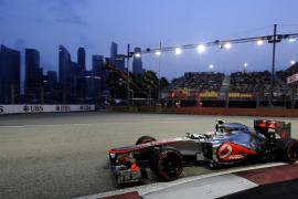 Hamilton consigue la 'pole' en Singapur, Maldonado segundo y Alonso quinto