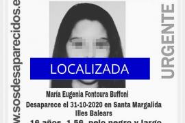 Localizada la joven de 16 años desaparecida en Santa Margalida