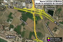 Las obras del nuevo enlace elevado desde la autopista al Molinar empezarán este año